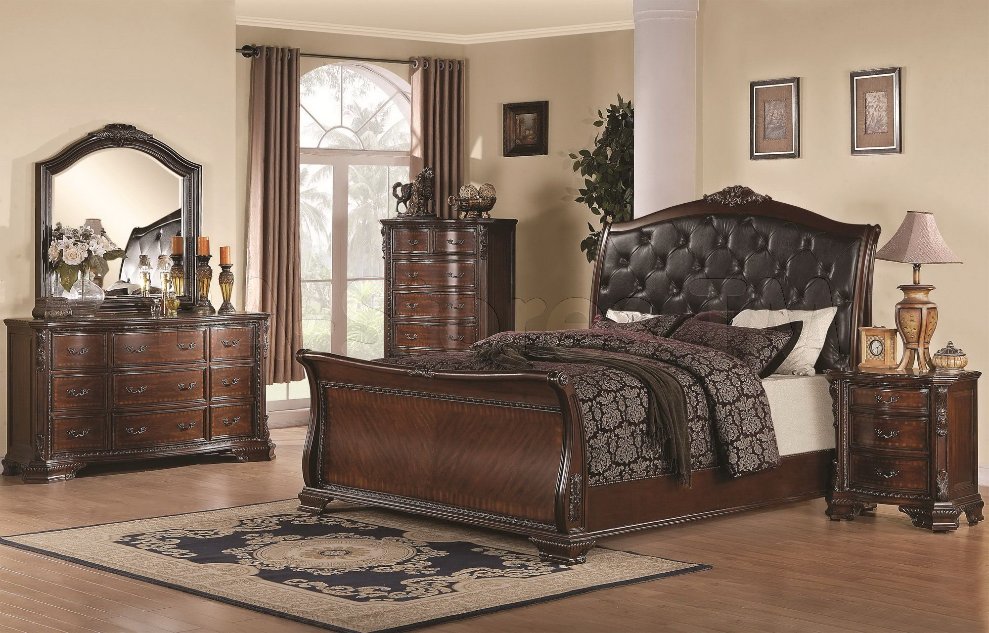 The most expensive one bedroom with full size platform bed headboard