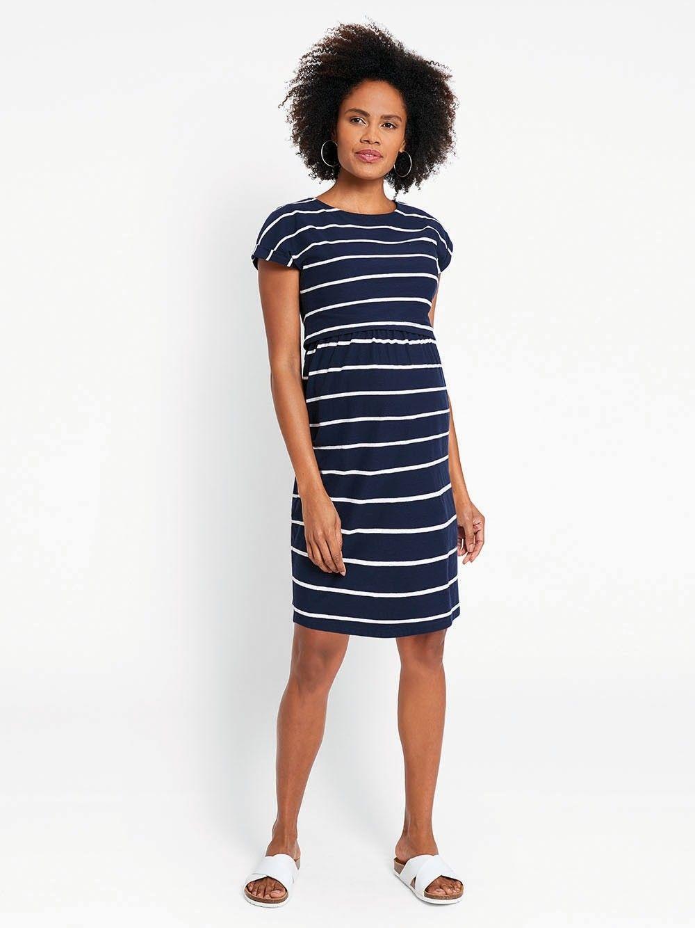 Breton Stripe Nursing Dress