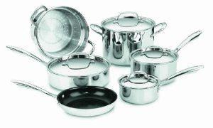 Cuisinart Ggs 10 Greengourmet Multi Ply Stainless Steel Nonstick 10 Piece Cookware Set Review Cookware Set Cookware Cuisinart