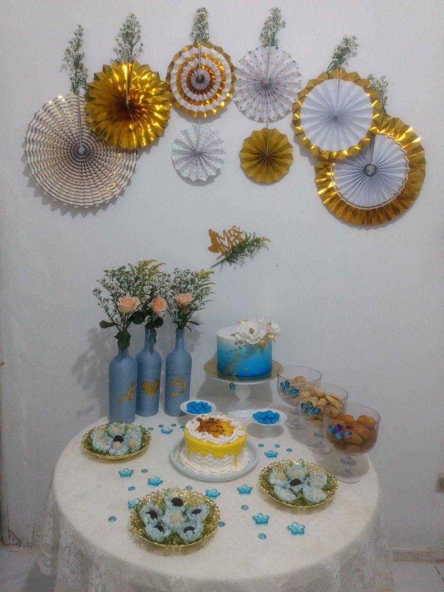 Bodas De Quartzo Azul 4 Anos De Namoro Decoracao Dia Dos