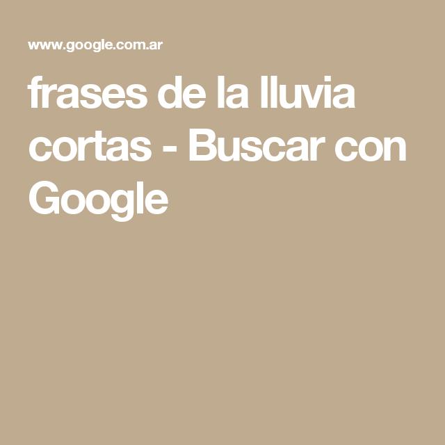 frases de la lluvia cortas - Buscar con Google