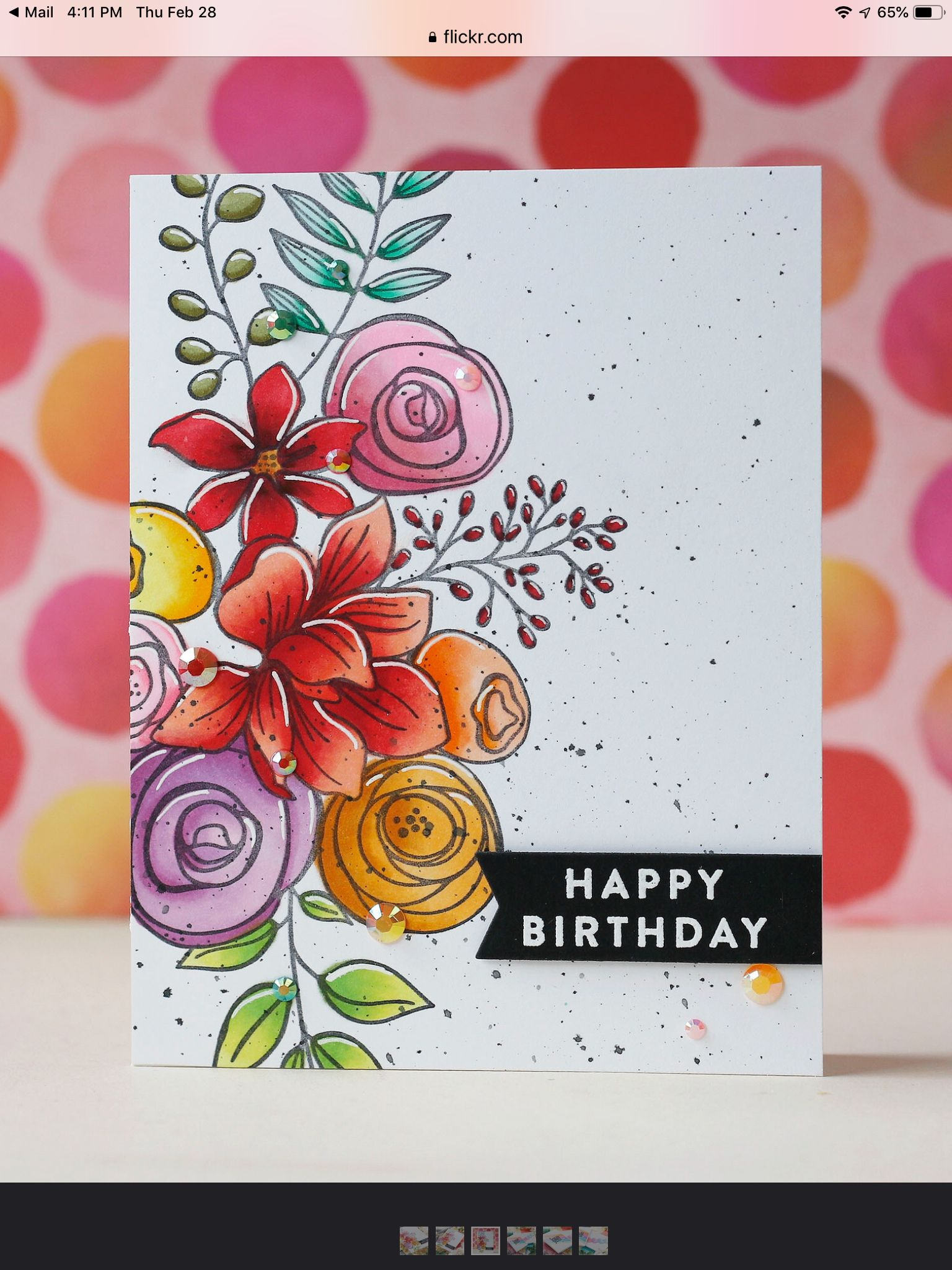 Pin By Janice Johnson Valentine On Simon Sketched Flowers Birthday Card Sayings Birthday Cards Diy Cool Birthday Cards