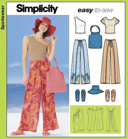 Simplicity Pattern For Wrap Around Pants And A Hat To Boot