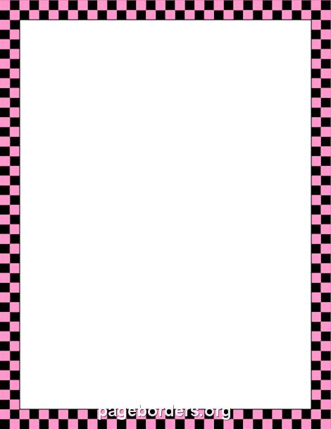 pink and black checkered border diplome pinterest border rh pinterest com au checkered flag border clip art red checkered border clip art free