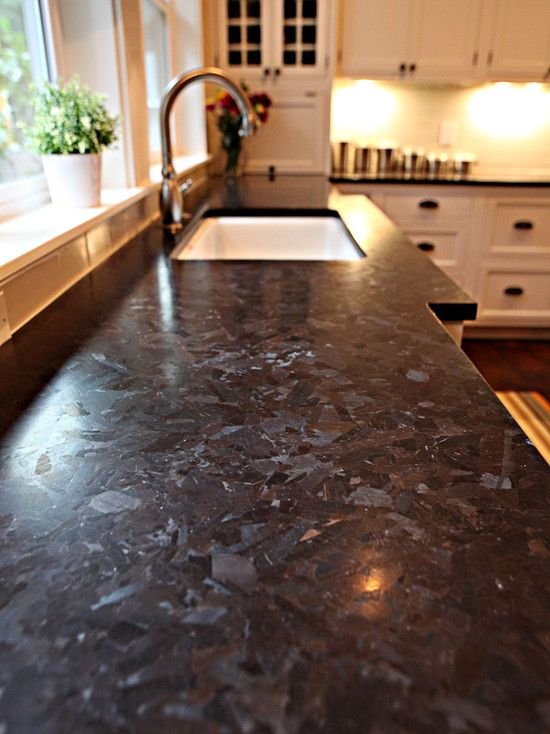 Antique Brown granite with white cabinets (bronze pulls ...