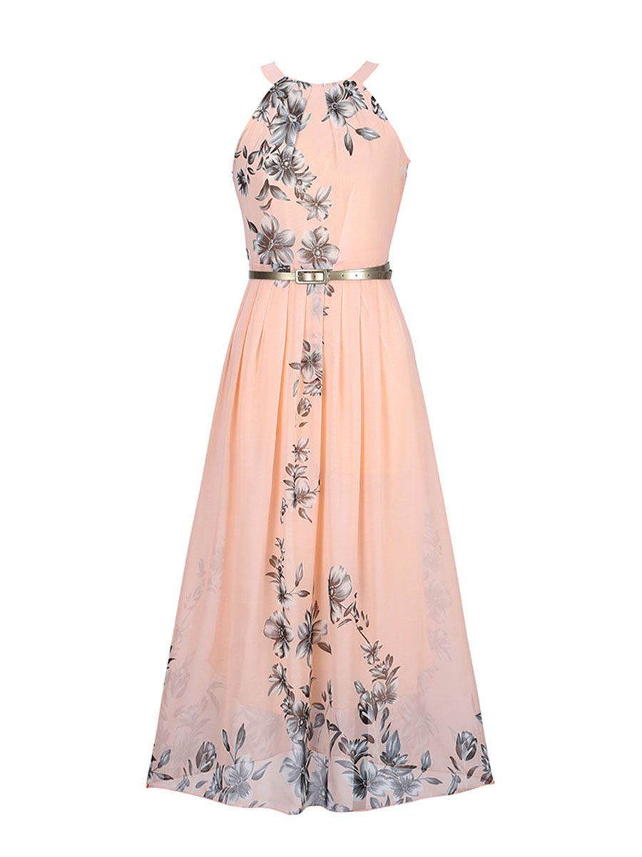 889f9432 Summer Floral Printed Chiffon Maxi Dress | Fashion, Hair, etc ...