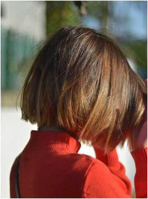 Blunt Bob Haircut Back View Look For Girls 2017 Styles Art ما
