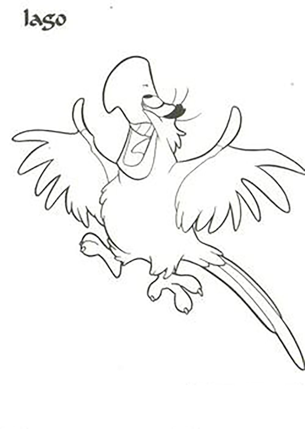 Aladdin Iago Happy Smiling Aladdin Coloring Pages Pinterest