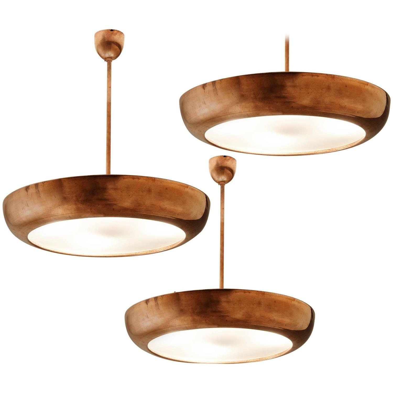 Set of five copper pendants pendants pendant lighting and