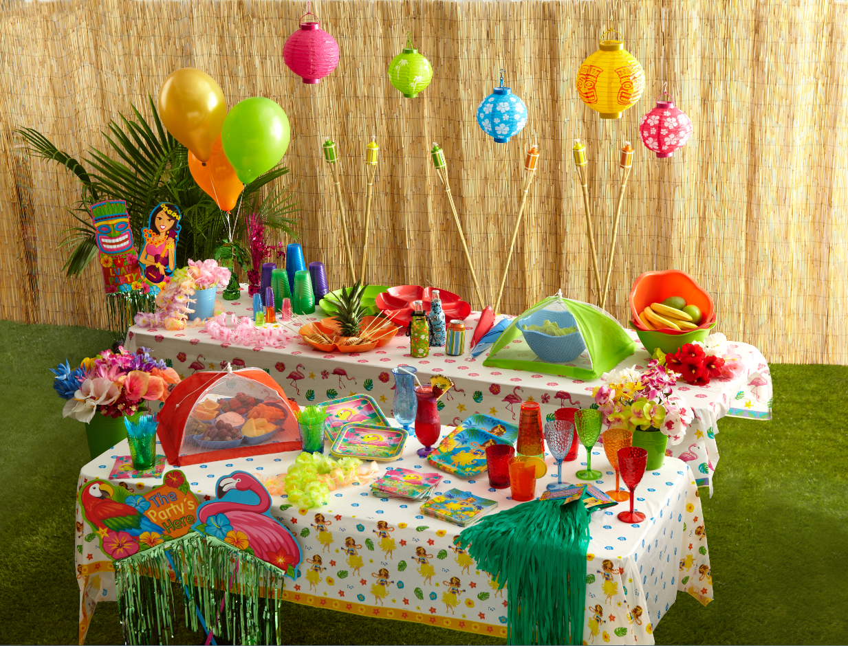 Summer Party Supplies From Dollar Tree Clever Housewife Luau Party Decorations Dollar Tree Party Supplies Summer Party Supplies