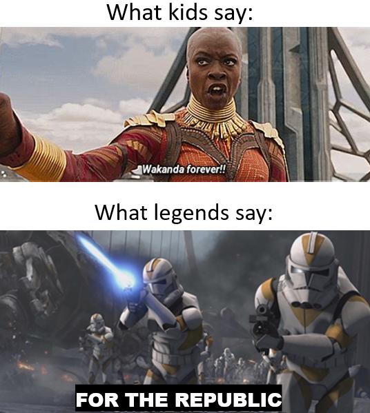 For The Republic Ahhhhhhhhhhhhhhhhhhhh Prequelmemes Funny Star Wars Memes Star Wars Jokes Star Wars Humor