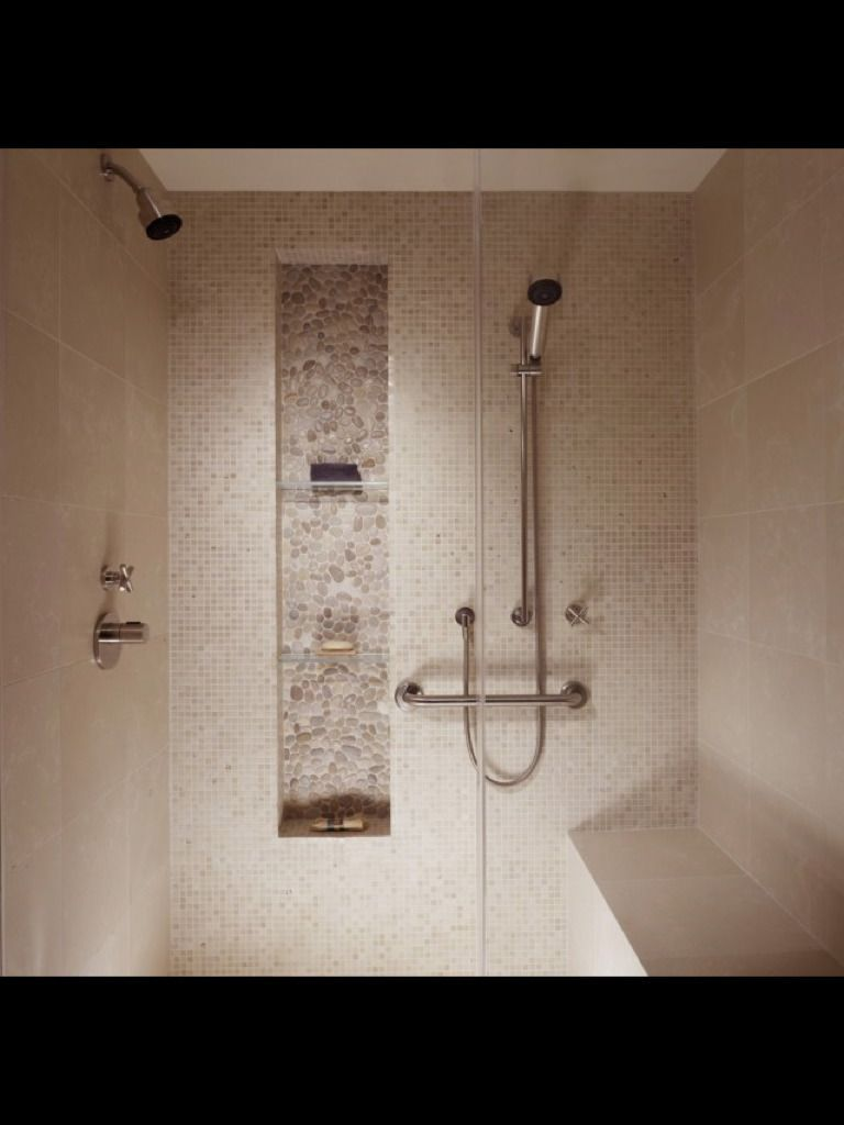 Subtle Tile Backwall Contrasting In Texture And Tile Size But All