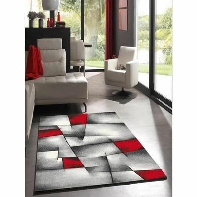 BRILLANCE Tapis de salon 200x290 cm rouge, noir et Pinterest