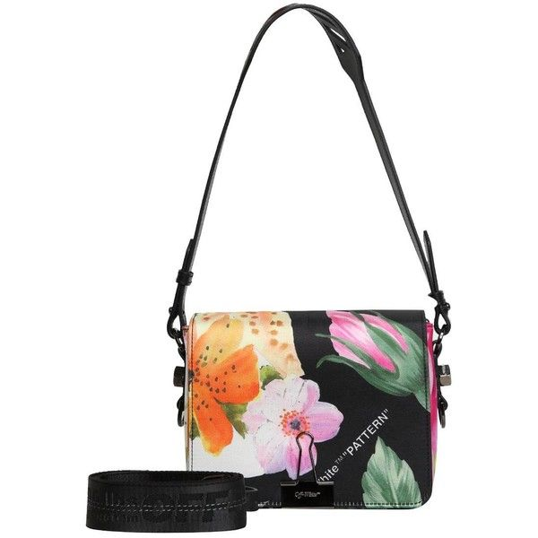 Off-white floral-print shoulder bag - Black yPmiwd