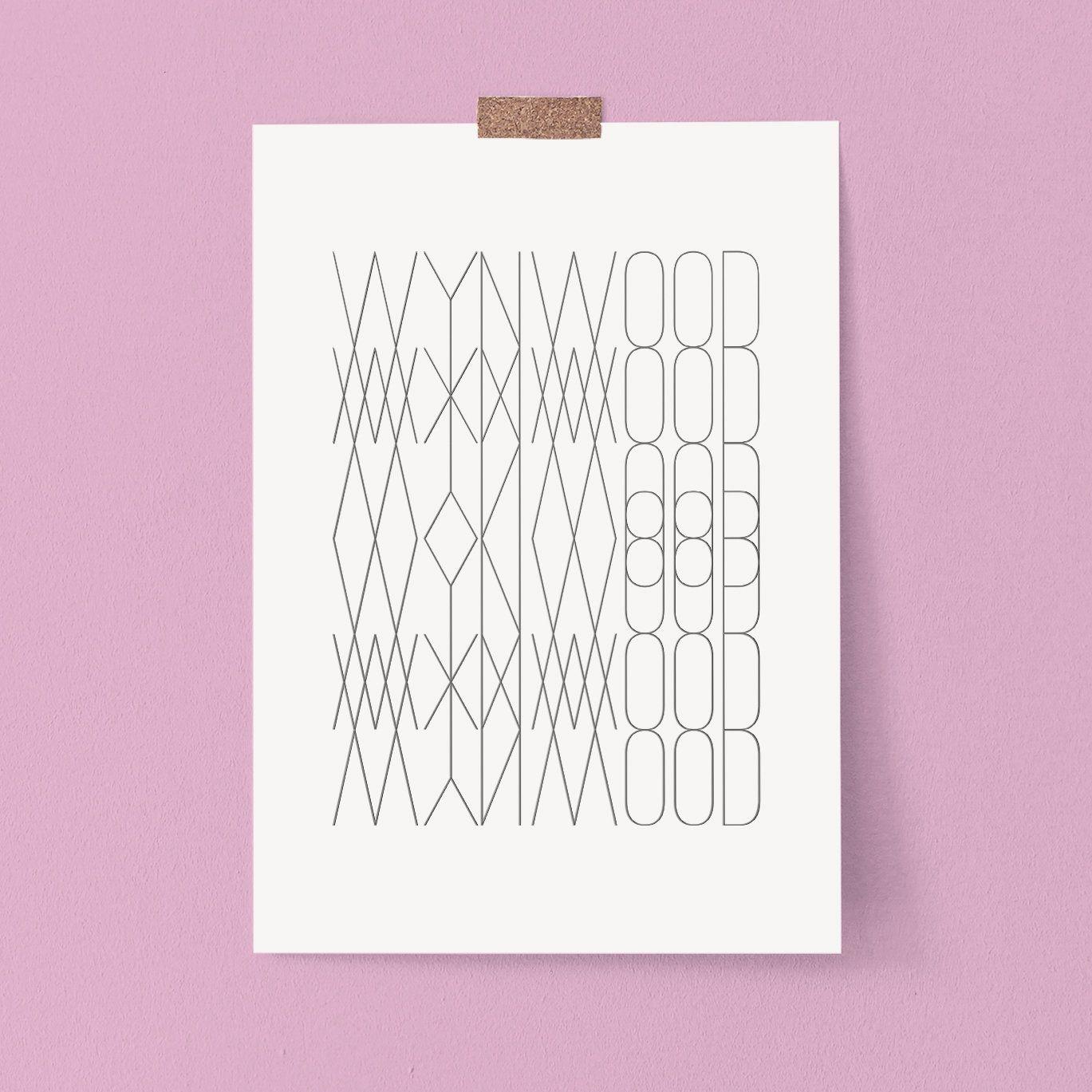 Wynwood Modern Geometric Printable Art Minimalist Typography Etsy Geometric Printable Geometric Art Printable Printable Art