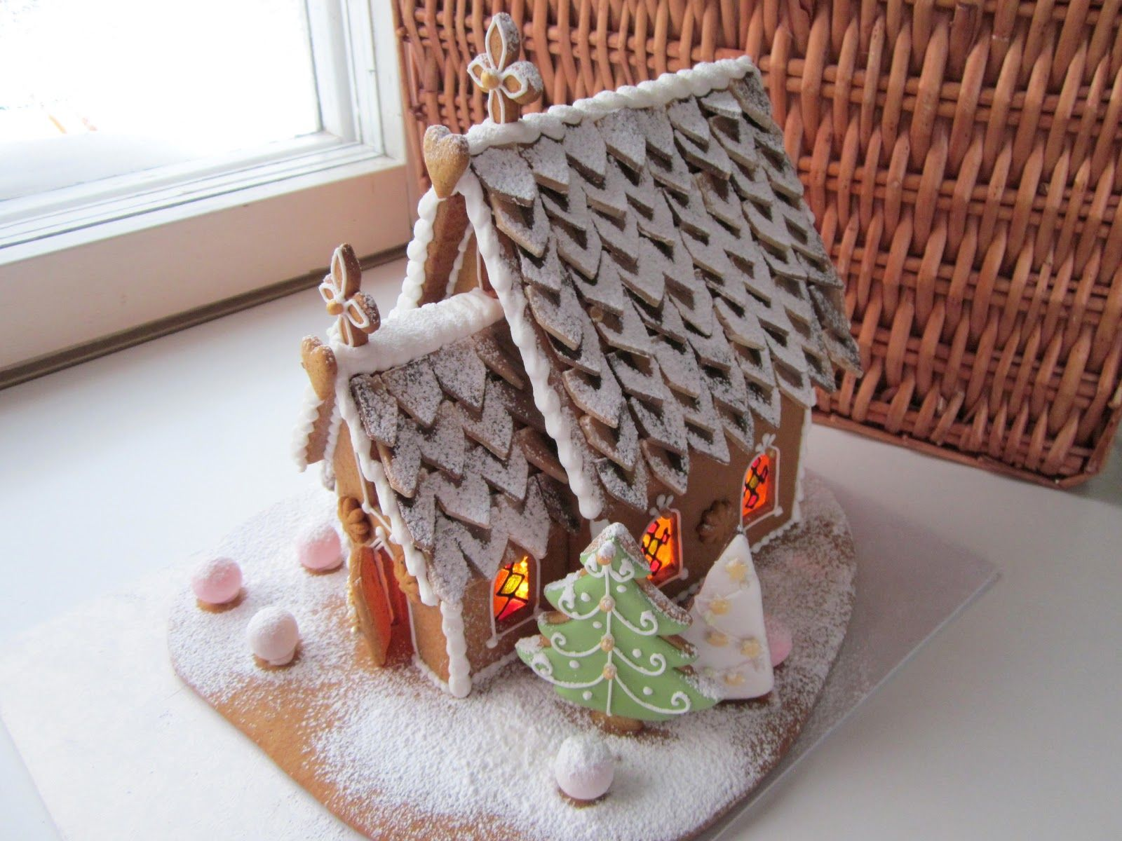 gingerbread house, cookie house, Christmas house | Gingerbread House on church cakes, church family house, church snow, church autumn, church candy, church cupcakes, church country gingerbread recipe,