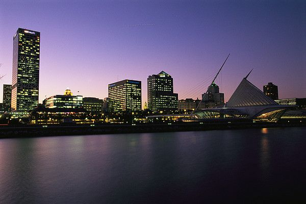 Milwaukee at dusk!