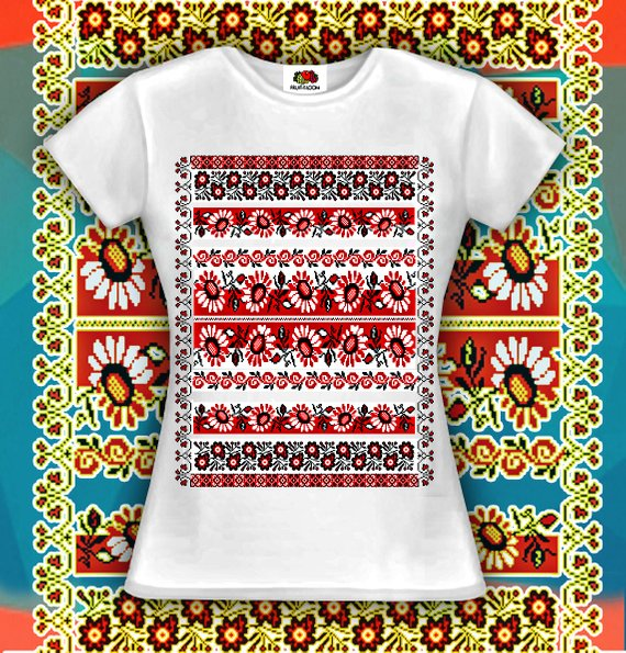 51557fcd78ff4e Sunflowers t-shirt printed in cotton Womens t-shirt with flower Red Black  ornament graphic t-shirt S