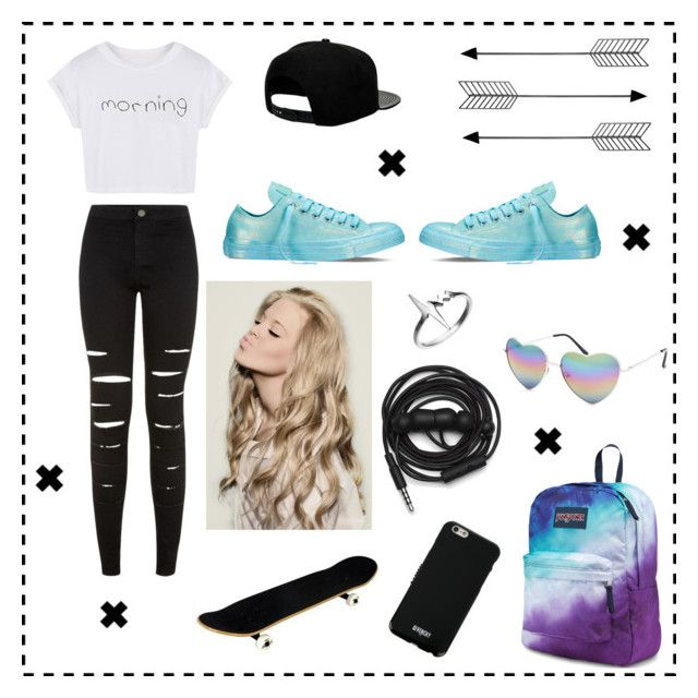 """""""Untitled #34"""" by xayeitsraex ❤ liked on Polyvore featuring New Look, '47 Brand, Converse, Bend, JanSport, Givenchy, Delphine Leymarie, Urbanears and Full Tilt"""