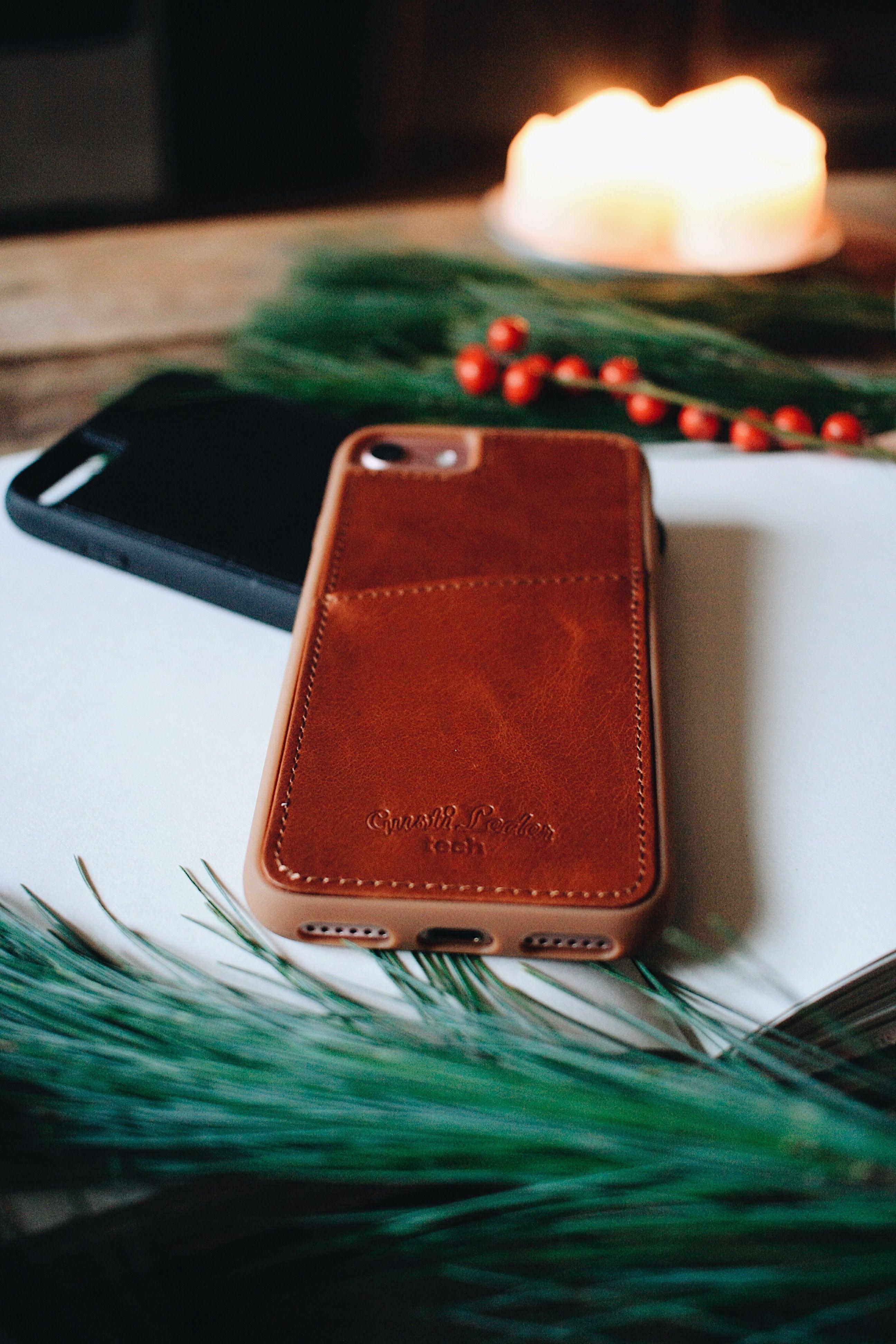 Dan Softcase Handyhülle Lederhülle Iphone8 Plus Braun Leder