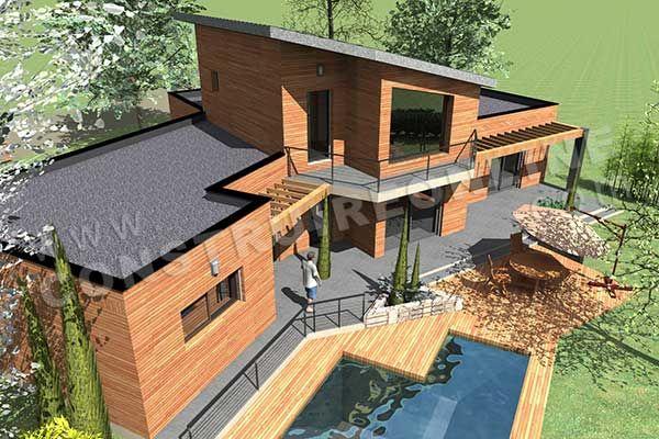 plan de maison etage moderne BAHIA piscine ciel Plans maison