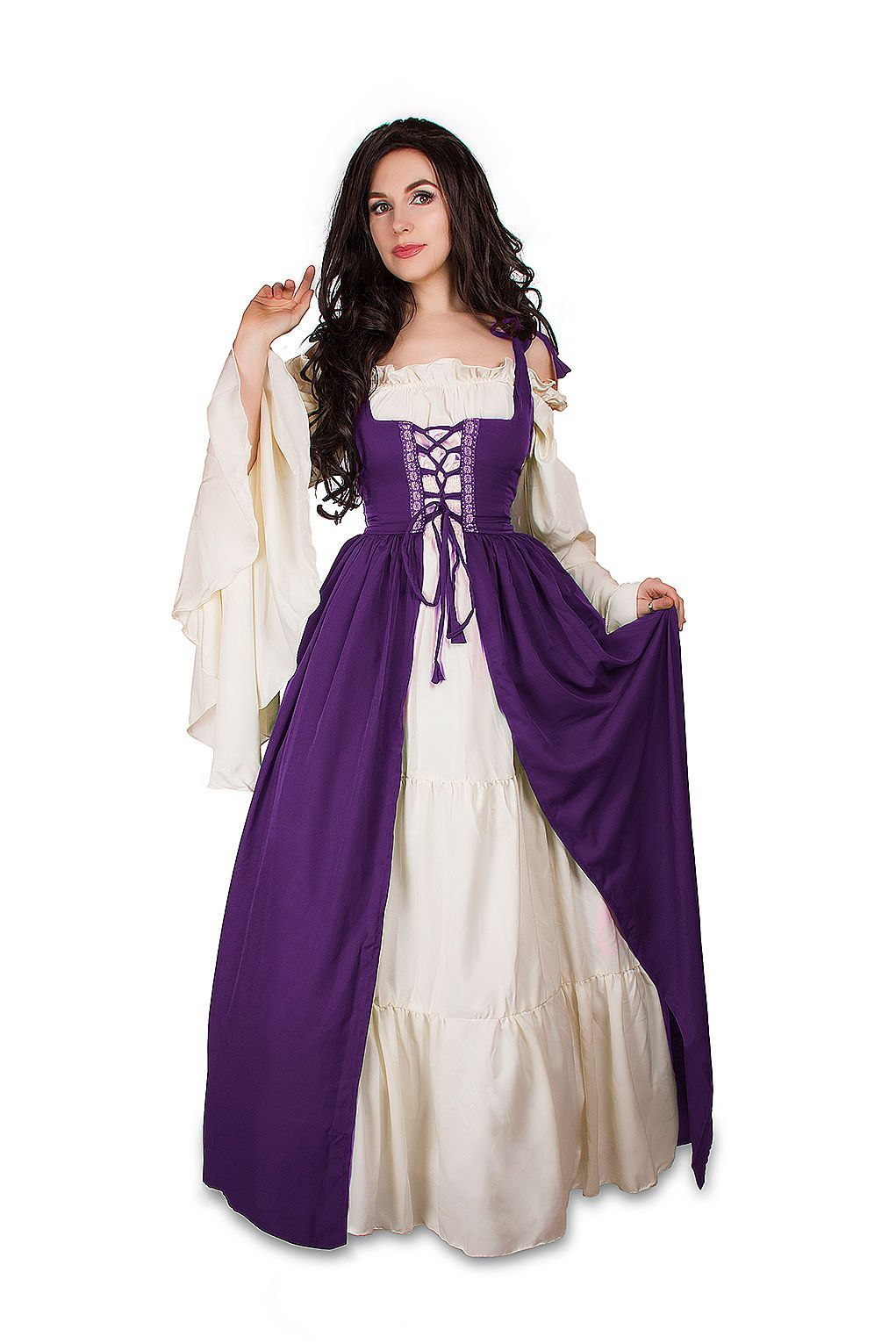 IDD Renaissance Medieval Irish Costume Over Dress Fitted Bodice ...