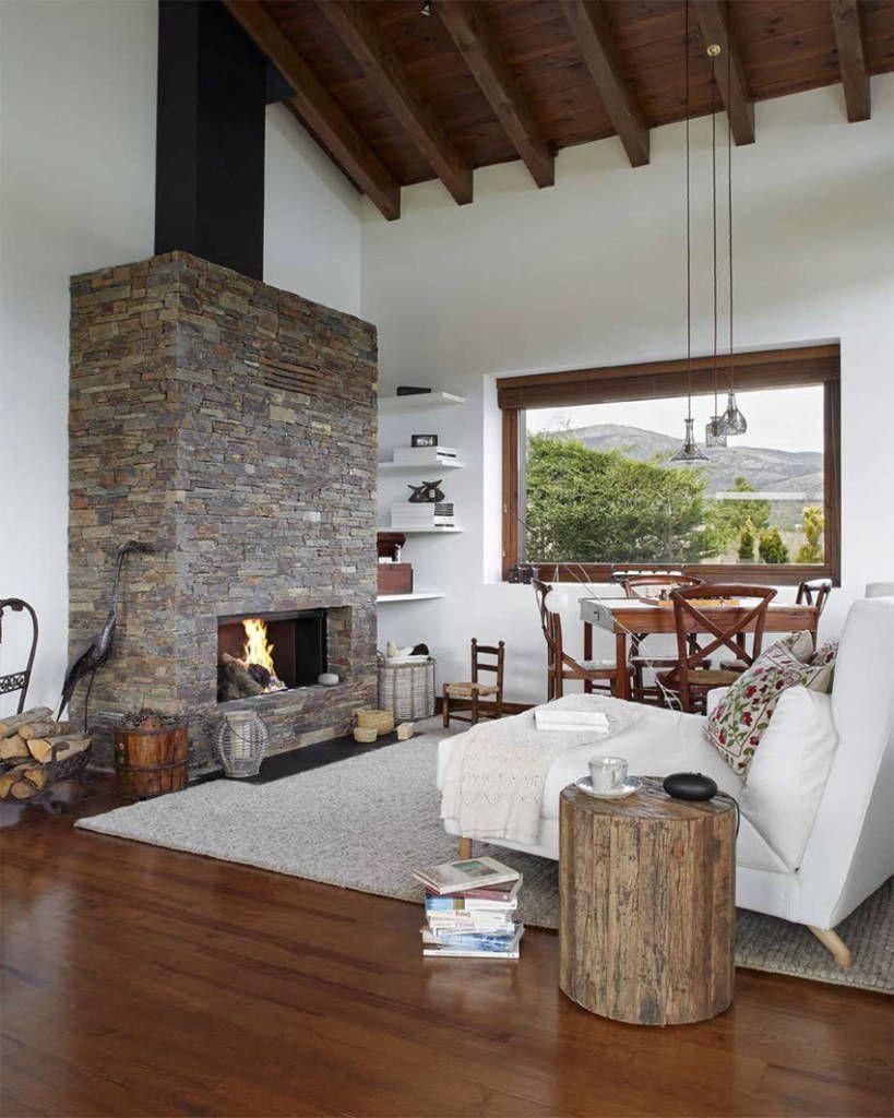 Casas De Campo Rusticas Decoracion Rustic House Cabin Living Room Rustic Interiors
