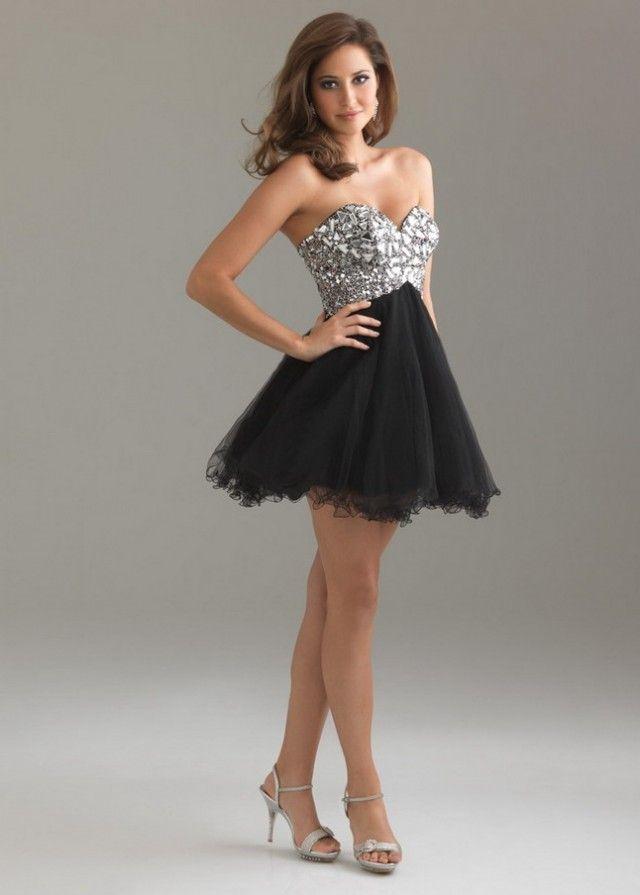 15 Best Short Dresses for 2014 Proms | Black prom dresses, Prom ...