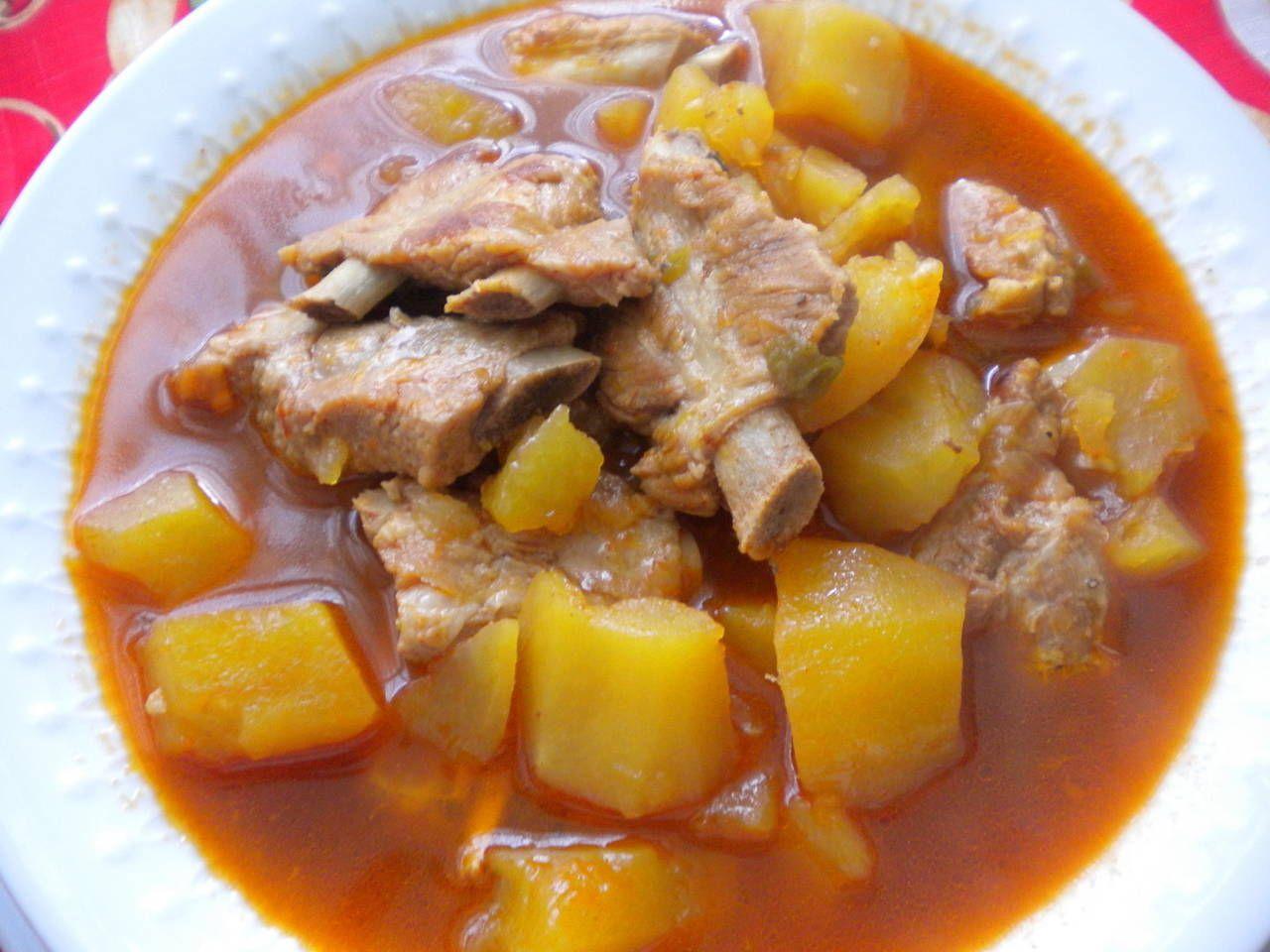 Estofado De Patatas Y Costilla Receta Estofado De Cerdo Cerdo Con Patatas Receta Estofado
