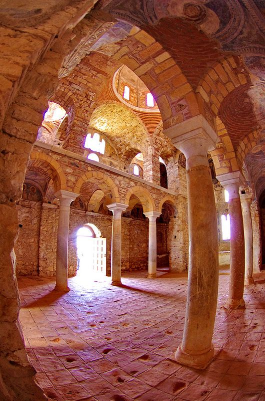 Grèce Peloponnèse Μυστράς Mistras Mystras - ville byzantine 215 l'église Hodighitria Aphendika