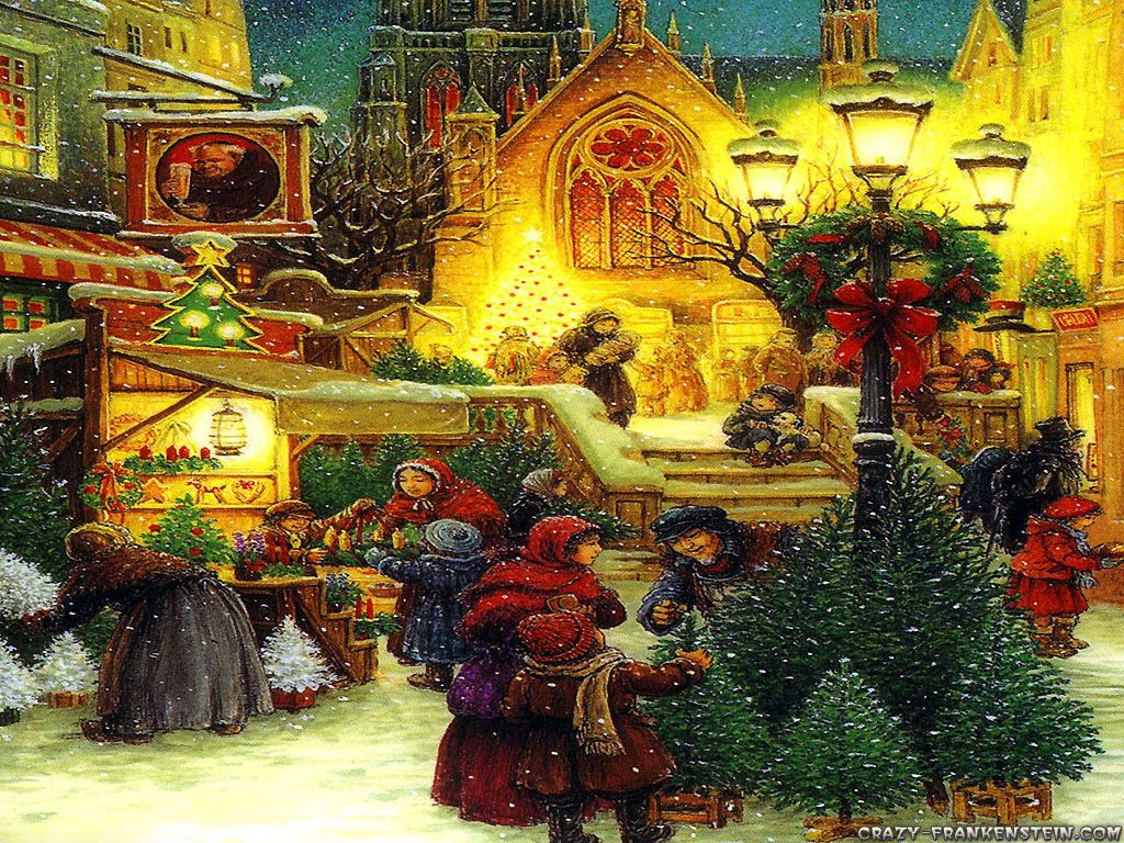Old-Fashioned Christmas Scenes   Old Fashioned Christmas Wallpaper ...