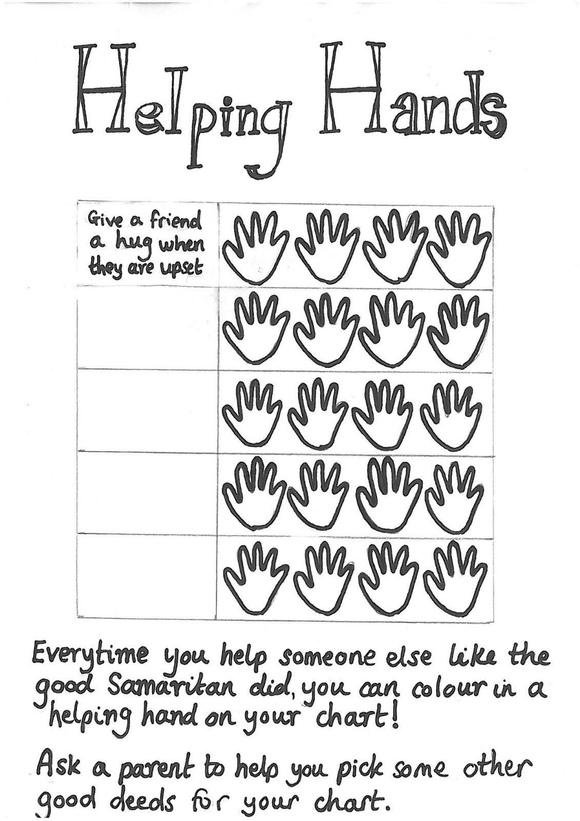 Good Samaritan Helping Hands Challenge Sunday School Preschool