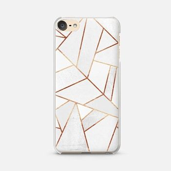 uk availability e995c b4e5d iPod Touch 6 Case White Stone and Copper Lines | iPod Touch 6th ...