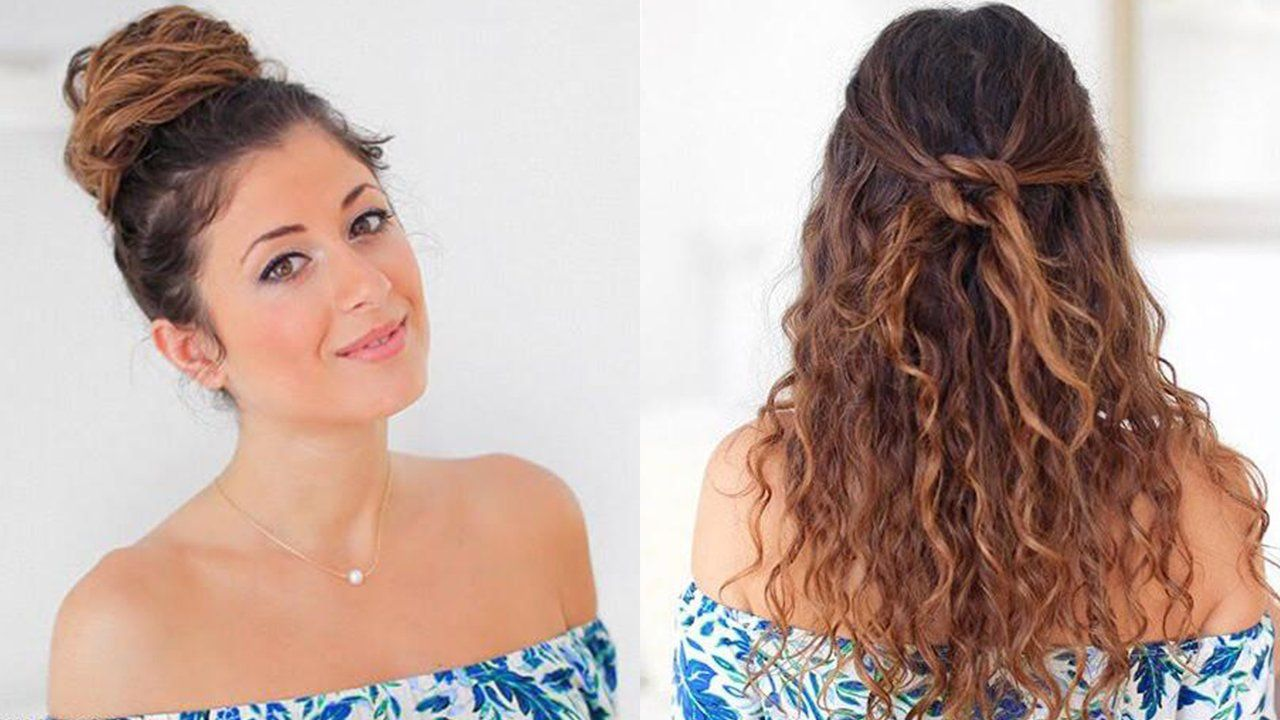 5 Hairstyles For Constantly Frizzy Hair Medium Curly Hair Styles Poofy Hair Braided Hairstyles Easy
