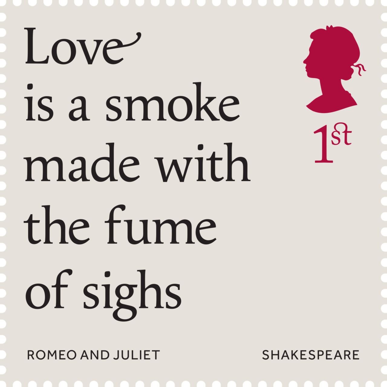 Shakespeare Quotes About Death Quote From Romeo And Juliet Featured On A Commemorative Stamp Set