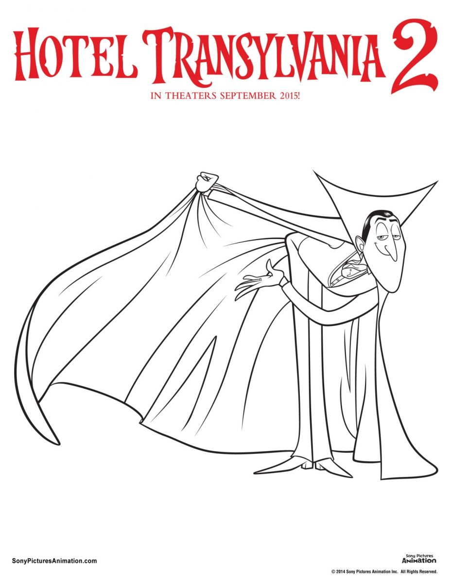 Colouring pages hotel transylvania - Dracula Hotel Transylvania 2 Coloring Page