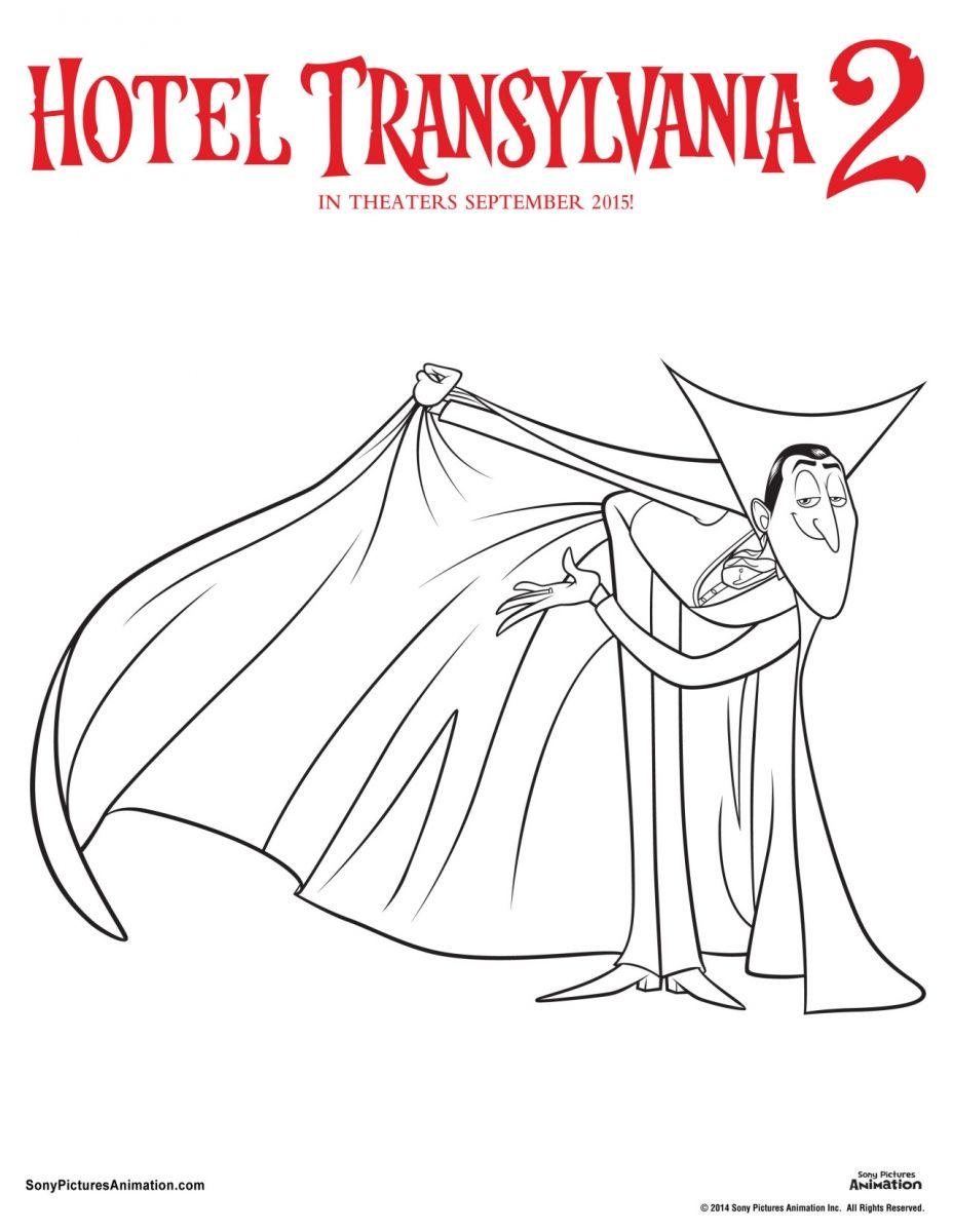 Dracula Hotel Transylvania 2 Coloring Page Hotel Transylvania