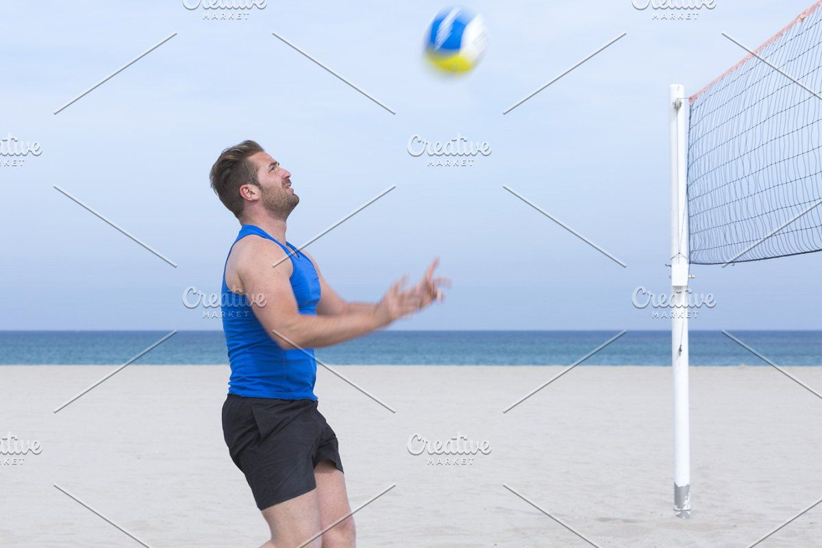 Beach Volley Male Player Portrait In 2020 Volley Mens Volleyball Beach