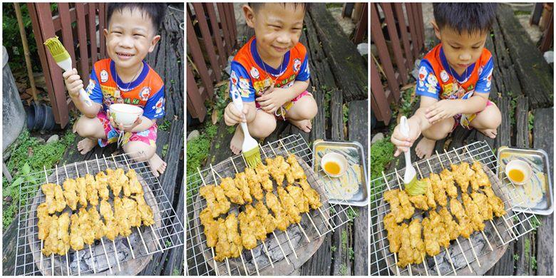 Grilled Chicken With Lemon Grass 13 ไก มะนาว ไก ย าง การทำอาหาร