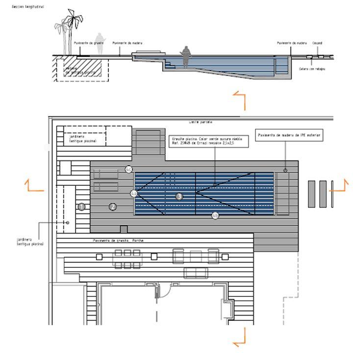 Dise o de piscina de la habitaci n verde plano con for Plano habitacion online