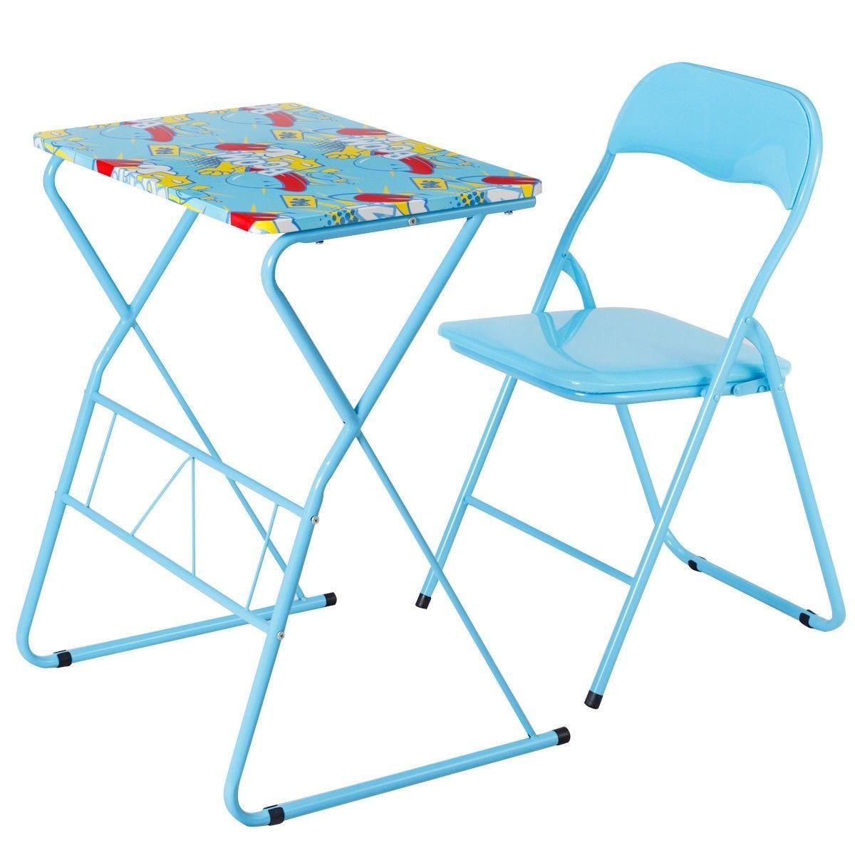 - Home School Kids Study Writing Folding Table Chair Set $38.95 +