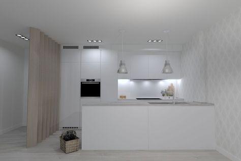 Cocina Pequeña Con Península Abierta Al Salón Islas De Cocina Cocina Integrada En Salon Cocinas Pequeñas
