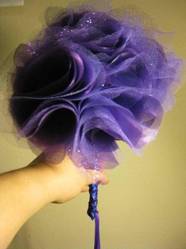 non floral wedding bouquets | DIY Fabric Flower Bouquets - BRONZE ...