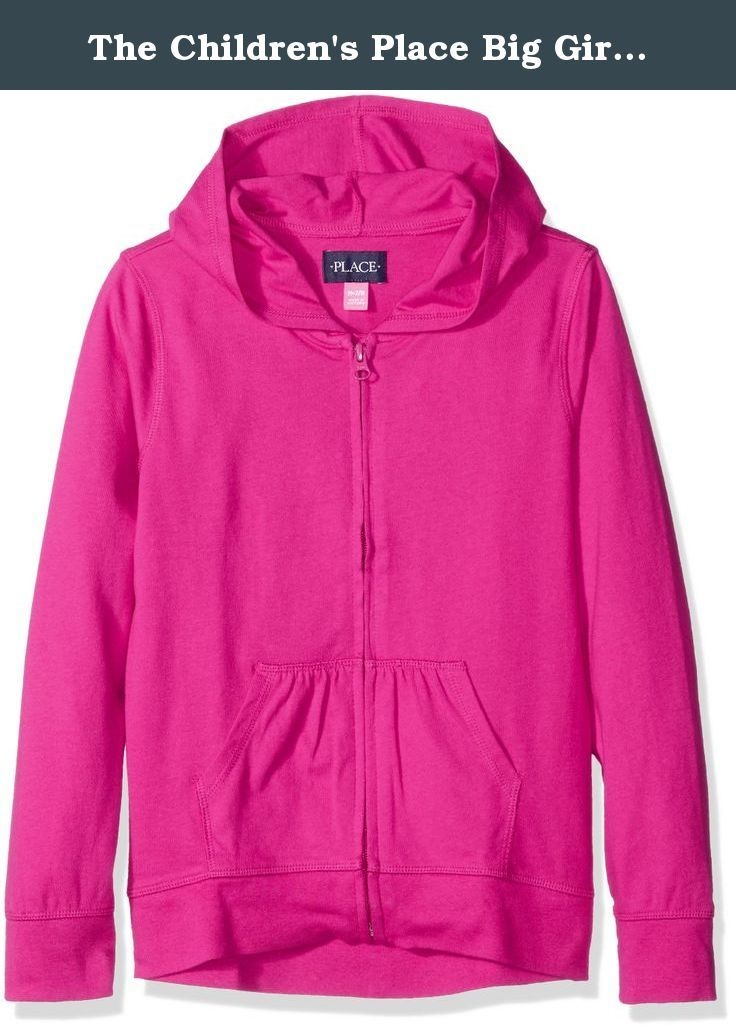 15bcd924 The Children's Place Big Girls' Uniform High-Low Hoodie, Aurora Pink,  Large/10/12. Uniform high-low hoodie which is very comfortable to wear.
