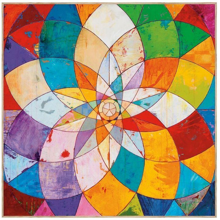 mcgaw graphics kaleidoscopic by james wyper framed geometrische malerei kunstproduktion kunstdruck acrylbilder schwarz weiß abstrakt abstraktes bild acryl