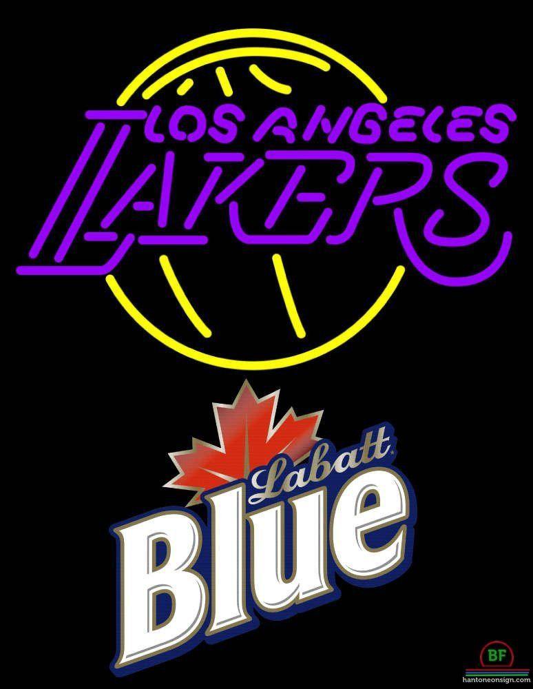 5f65ad4752 Labatt Blue Los Angeles Lakers Neon Sign NBA Teams Neon Light