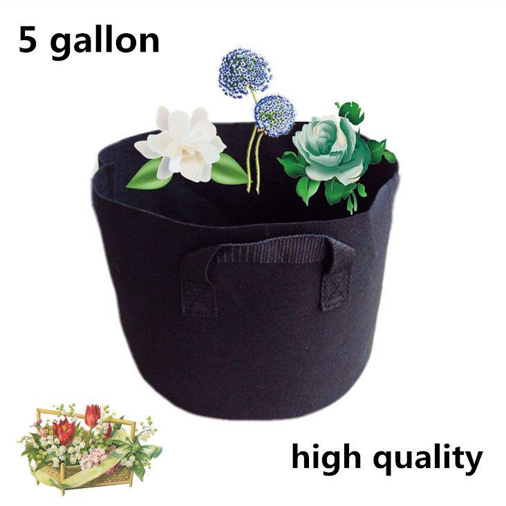 2pieces 5 Gallon Black Fabric Pots Plant Vegetable Pouch Round Aeration Pot  Container Grow Bag. Organic VegetablesOrganic GardeningGarden SuppliesGarden  ...
