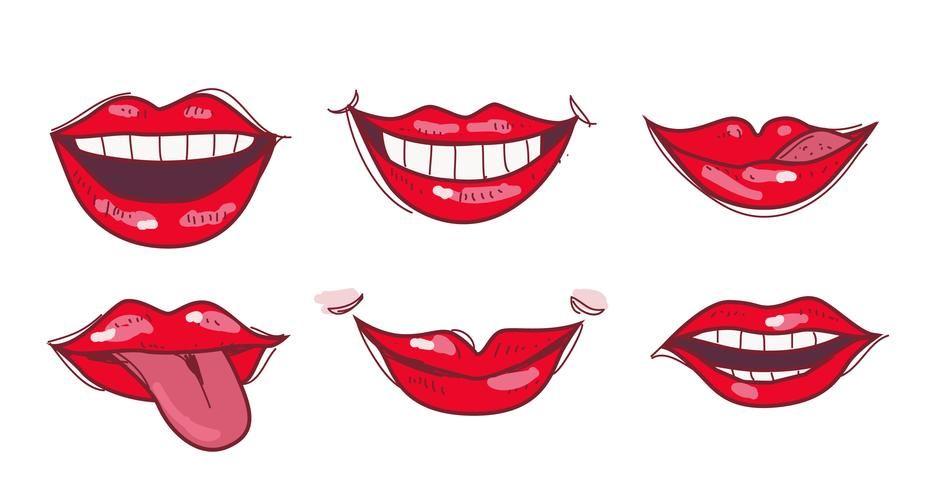 Картинки нарисованные улыбка губы