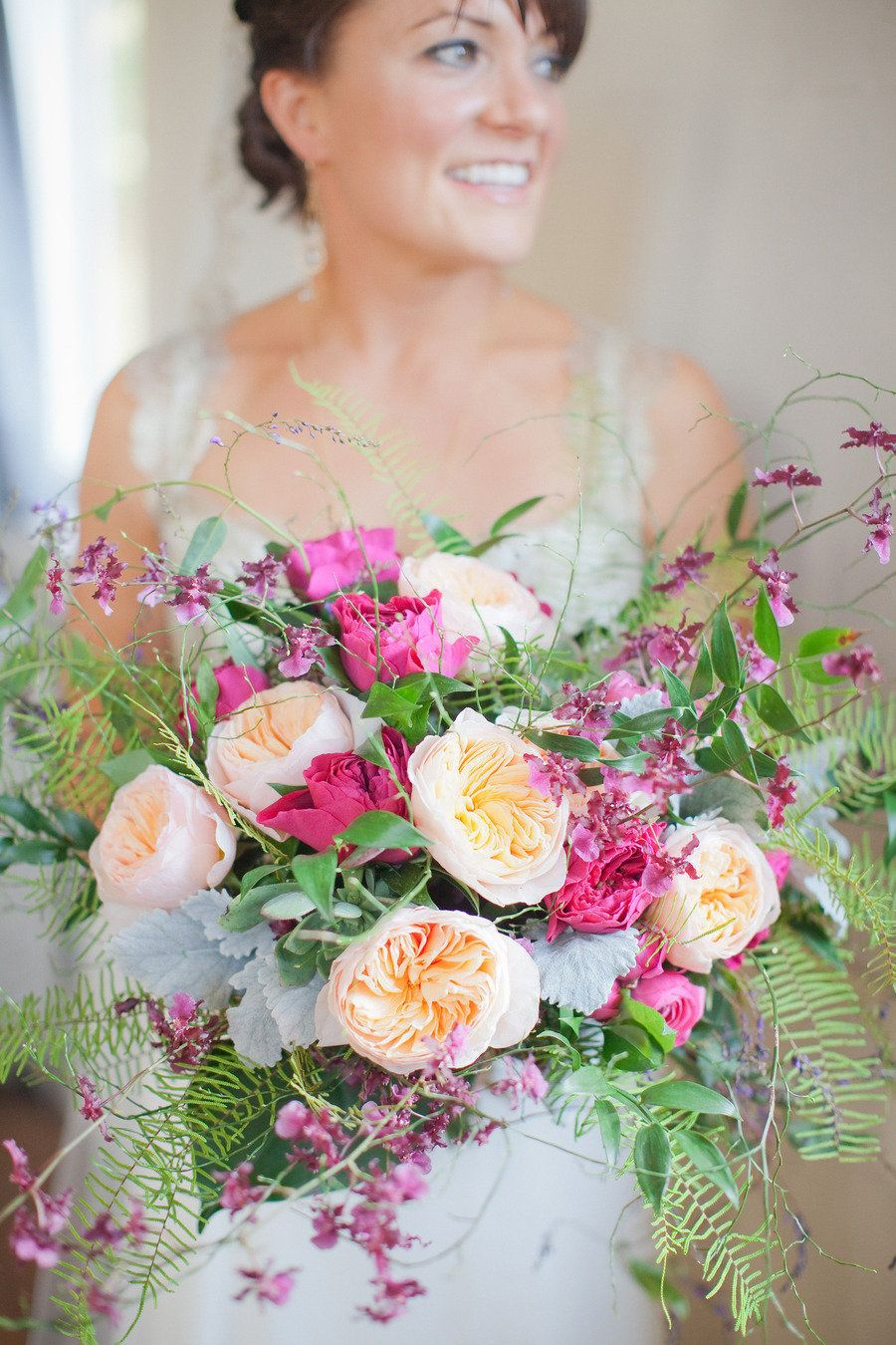 Bridal bouquet deliciousness!!   B#gardenroses, #bouquet | Photography: Lori Paladino | See More on SMP: http://stylemepretty.com/2013/05/21/sausalito-wedding-from-lori-paladino-photography/