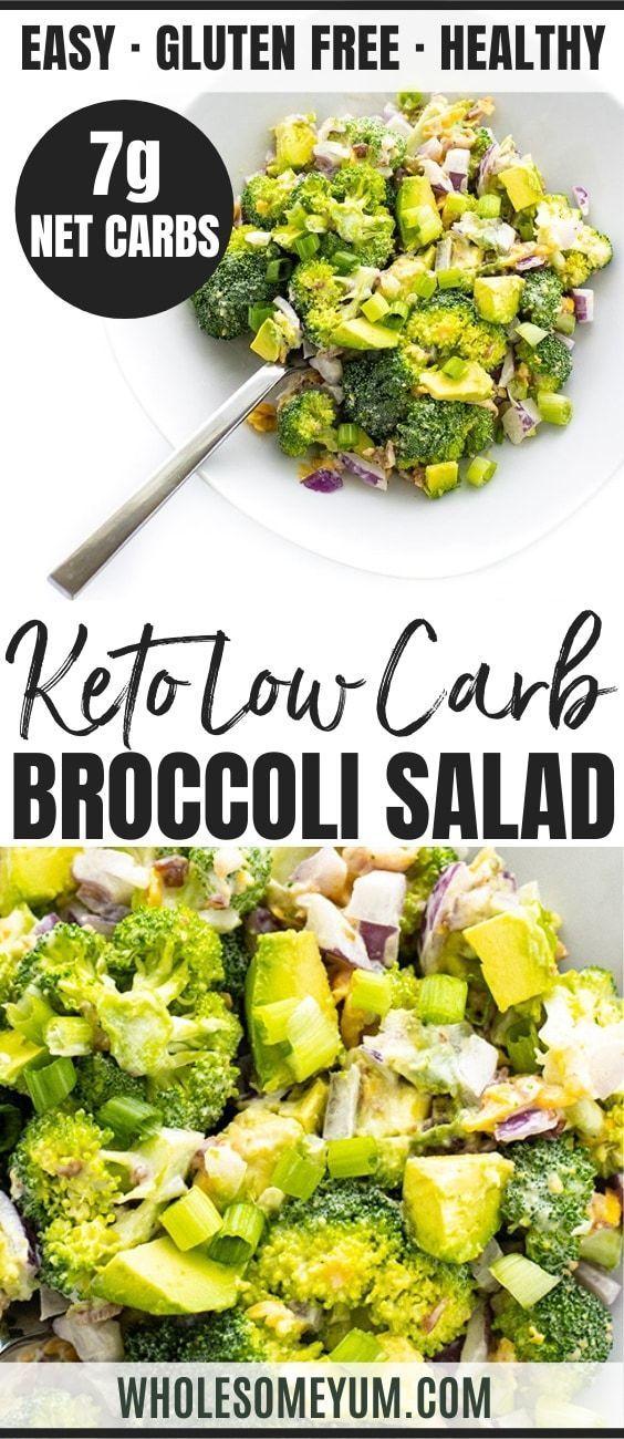 Low Carb Keto Broccoli Salad Recipe With Bacon And Cheese - This KETO broccoli salad recipe with ba